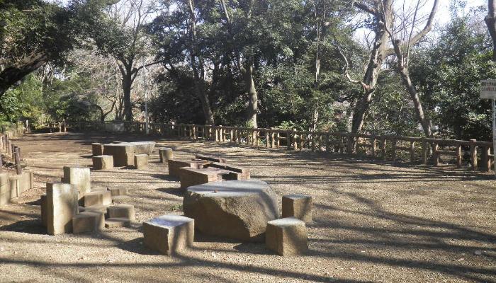 本門寺公園ののどかな自然